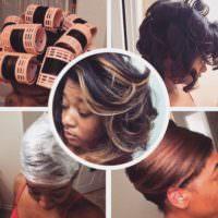 Jaime Renee's Natural Hair + Hooded Dryer Roller Set + Saran Wrap = This!