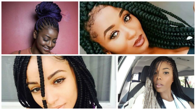 12 Women Rocking Box Braids