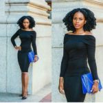 Gorgeous Curls Can Make the Little Black Dress Pop