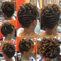 Nice Flat Twists  Updo