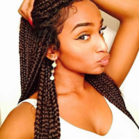 Cute Braids, Edges Fly Too @selineallen