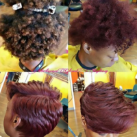 Who Else Would Rock This Red Wine Silk Press? @virtuousglam