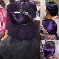 Crushin' on This Violet Silk Press @voiceofhair