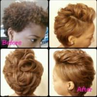 Lovely Color on This Natural Hair Blow Out