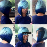 Channelling Smurfette With This Blue Bob @stylist_cmarie