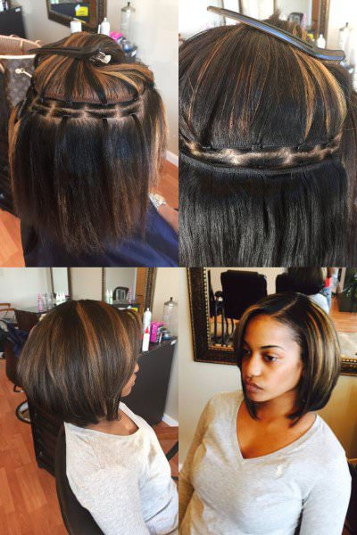 braidless sew in black hair information