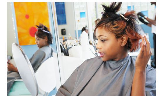 black woman at a salon