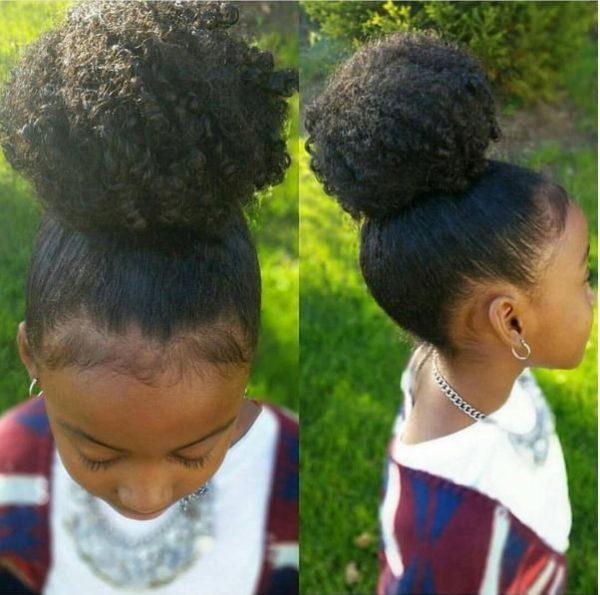 Kids hair bun