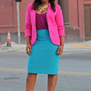 Bold colors super glam combo suit