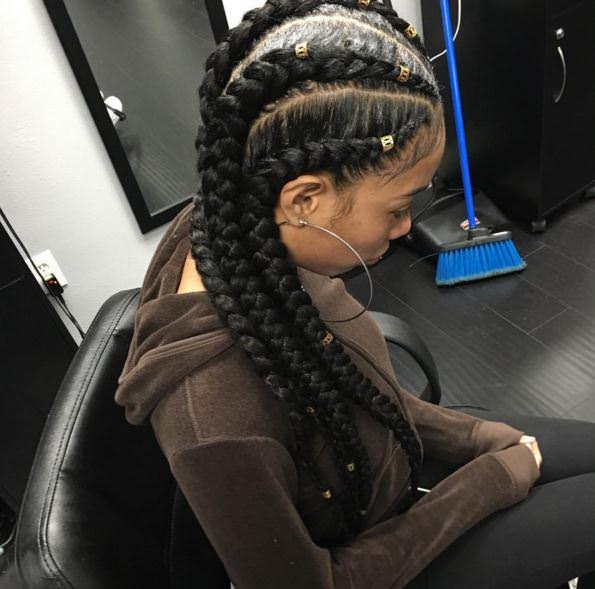 Corn Rolls Hairstyles Braids | blackhairstylecuts.com