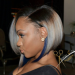 Unique Custom Colored Lace Closure via @Anthonycuts