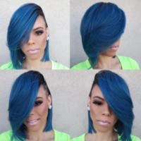 Yass Blue! via @thehairicon