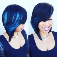 Peek-a-Blue via @thehairicon