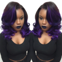 Love This Purple Ombre by @hairbylatise