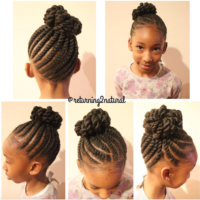 Love this kid friendly protective style via @returning2natural