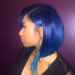 Pretty blue bob by @hairbychantellen
