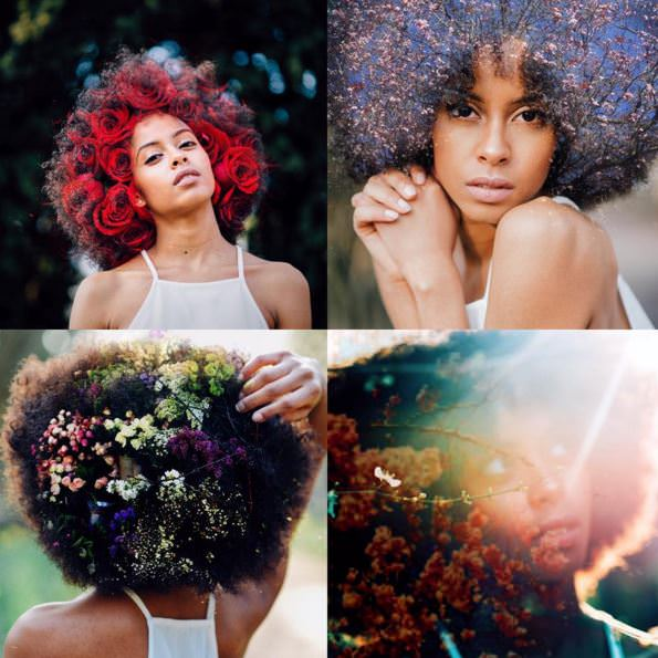 afro blooming