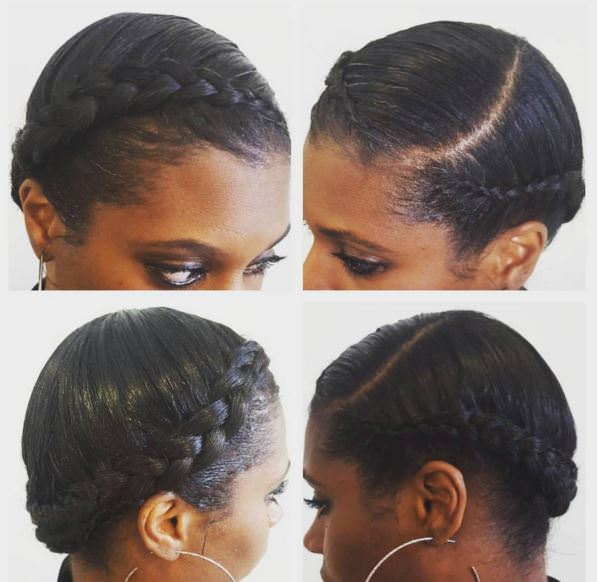 Surprising 11 Crown Braid Styles Perfect For Protective Styling Gallery Short Hairstyles For Black Women Fulllsitofus
