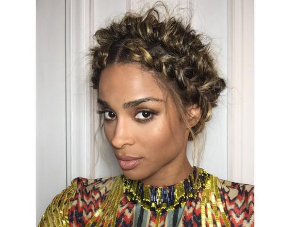 messy crown braid – Ciara