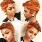 Orange hair color