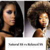 Natural hair versus relaxed hair