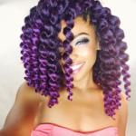 Love her purple crochet braids! @joyvivre