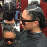 Dope Braided Bun by @hair2serveyou