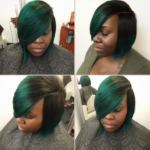 Love this yummy green sew-in via @hairbylatise