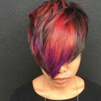 Edgy cut and color via @najahliketheriver