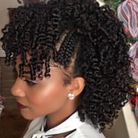Curly faux hawk @KienyaBooker