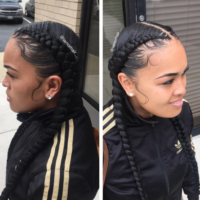 Braids and laid edges by @IamorHair__