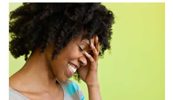black woman embarrassed