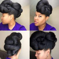 10 Beautiful Updo Styles You Can Try For Your Low Manipulation Regimen [Gallery]