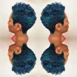Shades of blue via @hairbylatise