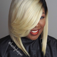 Sleek custom unit by @hairbyharper