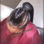 Sleek braided pony via @hairprincessss