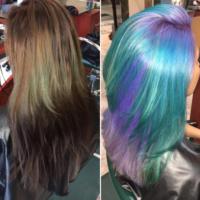 Color transformation via @salonchristol