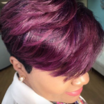 Perfect plum pixie via @salonpk
