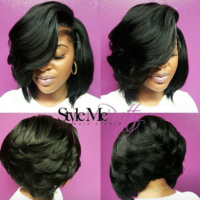 Love this voluminous bob via @cocostylezem