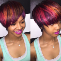 Edgy color blend via @msklarie