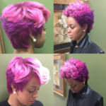 Funky shades of pink via @salonchristol