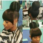 Flawless bun and bang via @pgdrekahairpage
