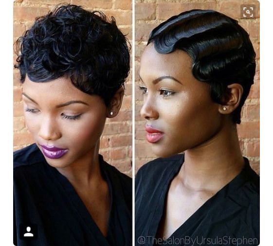 Finger Waves On Natural Hair