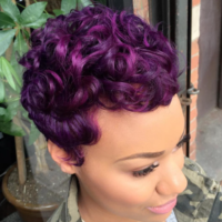 Another purple win!  styled by @salonchristol