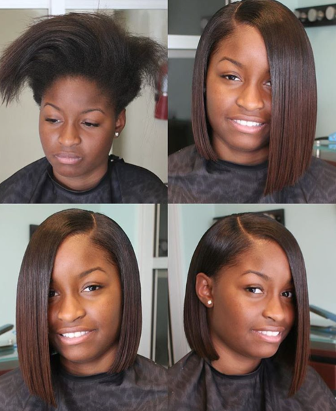 Bone Straight Bob By Ladylavish Black Hair Information