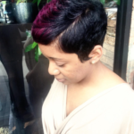 Pixie with a pop of color by @artistry4gg