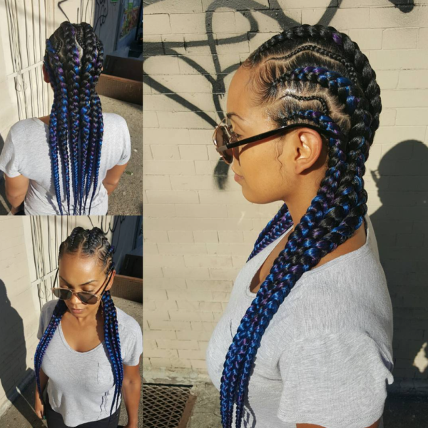 Nice braids via @tasha_worldofstyles  Black Hair Information - Crochet Braids Hairstyles For Kids