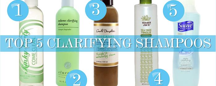 My Top 5 Clarifying Shampoos