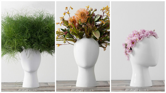 Yay Or Nay Wig Vase Creatively Showcases Your Floral Arrangements