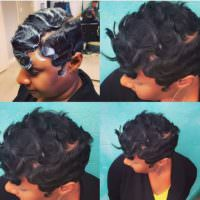 8 Finger Wave Styles Perfect For The Woman That Prefers Short Hair [Gallery]